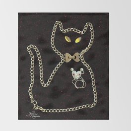 I Love Me Mouse! Cat and Mouse Jewelry Scanography Throw Blanket