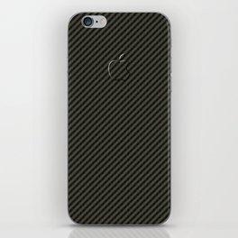 Carbon Fibre Image, Embossed Look Apple Logo iPhone Skin