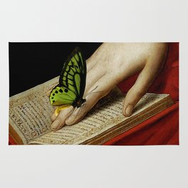 Gentle Reader Cropped Art Rug