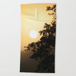 Early morning on the Shiripuno river Beach Towel