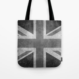Union Jack Vintage retro style B&W 3:5 Tote Bag