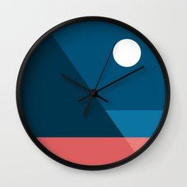 Geometric Landscape 08 Wall Clock