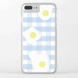 Sunny Side Up + Gingham Clear iPhone Case