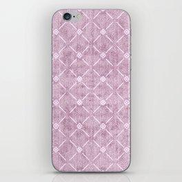 Faux Velvet Dusty Mauve Light Diamond Pattern iPhone Skin