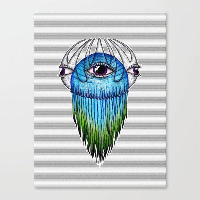 Purple Eye Jellyfish Canvas Print
