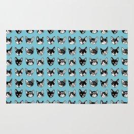 Kitten Faces: Blue Rug