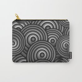 Charcoal Swirls Carry-All Pouch