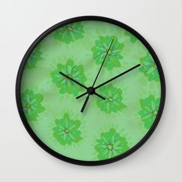 Fern Petal Rose Wall Clock