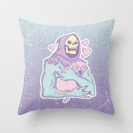 Skeletor's Cat Throw Pillow