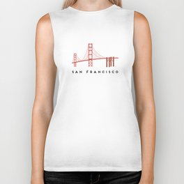 Golden Gate Bridge 2, San Francisco, California Biker Tank
