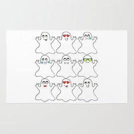 Ghost Emoji Shirt - Ghost Shirt - Ghost Halloween Shirt Rug