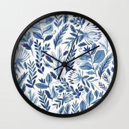 indigo scatter Wall Clock