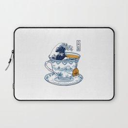 The Great Kanagawa Tea Laptop Sleeve