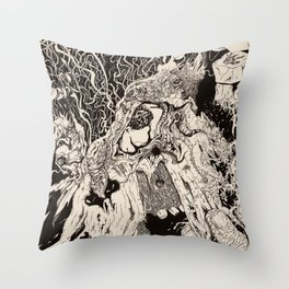 Entanglement (Untitled Face II) Throw Pillow
