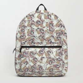 Giant money background 50 pound notes / 3D render of thousands of 50 pound notes Backpack