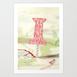 Paper Towns Typography Art Print
