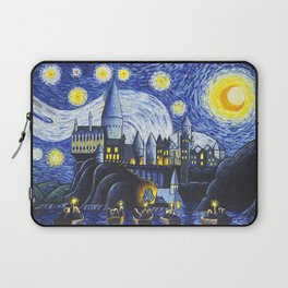 Starry Night At Hogwarts Laptop Sleeve