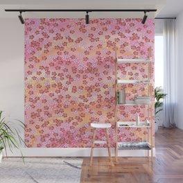 Rosa Blümchen Wall Mural