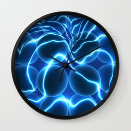 Quantum Energy Waves around Quantum Dots Wall Clock