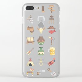 CUTE WILD WEST / COWBOY PATTERN Clear iPhone Case