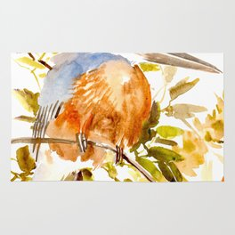 Belted Kingfisher Rug