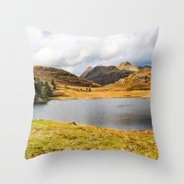 Blea Tarn in the English Lake District Throw Pillow