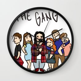 My Mad Fat Diary: The gang Wall Clock