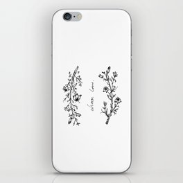 Choose Love (and Flowers) iPhone Skin