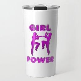 Girl Power Martial Arts Sparring Females Travel Mug
