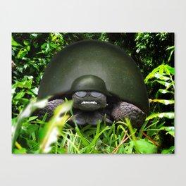 Slow Commando - Army Turtle Canvas Print