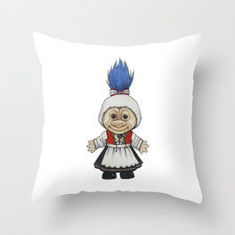 Bunadstroll Throw Pillow