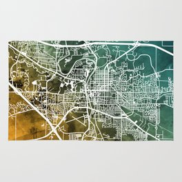 Iowa City Map Rug