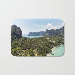 Railay Bay - Rai Leh Beach, Krabi Thailand  -  Tropical Paradise Bath Mat