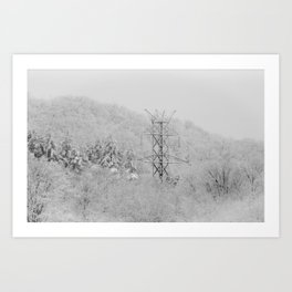 01.06.14 White Hydro Art Print