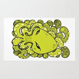 Octopus Squid Kraken Cthulhu Sea Creature - Lime Punch Rug