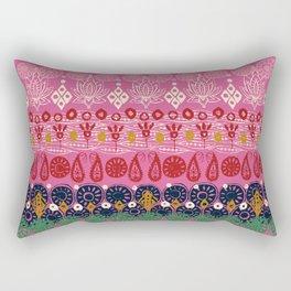 lotus block pink Rectangular Pillow