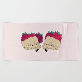 Fists / GRL PWR Beach Towel
