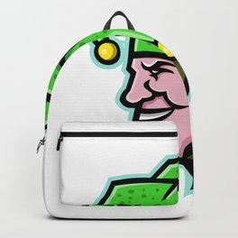 Harlequin Head Side Mascot Backpack