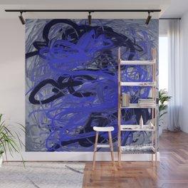 Blue & Gray Abstract Wall Mural