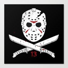 Jason mask Canvas Print