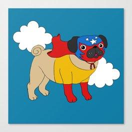 Lucha Libre Pug Canvas Print