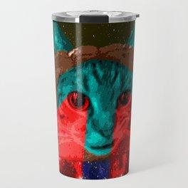 Inbread Cat with Halo Travel Mug