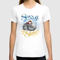 sterek T-shirts featuring Sterek Sleepy Wolf & Stiles I by siny