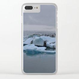 Beautiful glacial lake Jökulsárlón Clear iPhone Case