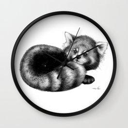Cosmic Red Panda Wall Clock