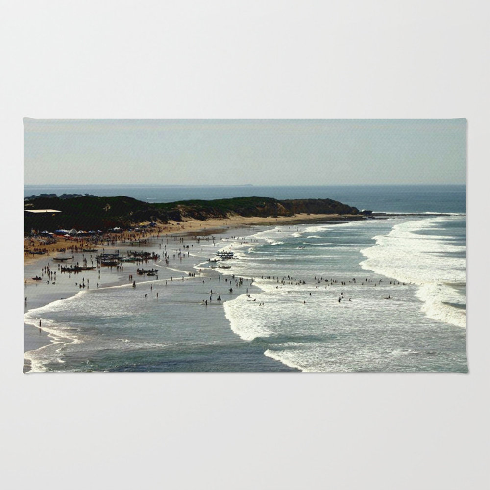 Torquay Heads - Rowing Regatta - Australia Rug by Cjcphotography RUG860131