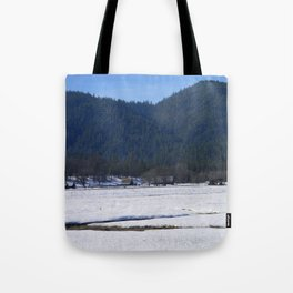 Beautiful wintry day in Hayfork, California.... Tote Bag