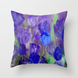 Breaking Dawn in Shades of Deep Blue and Purple Throw Pillow