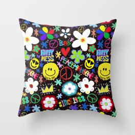 PMO colorful collage Throw Pillow