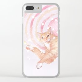 cheese tabby cat Clear iPhone Case